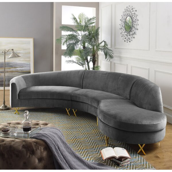 Stockport Right Hand Facing Modular Sectional by Everly Quinn Everly Quinn