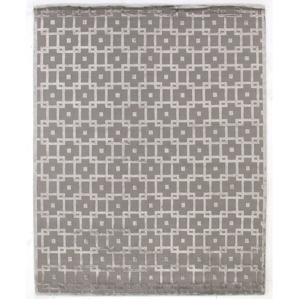 Hand-Knotted Wool/Silk Silver Area Rug by Exquisite Rugs