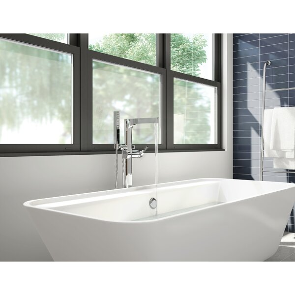 Zura Floor Mounted Tub Filler With Hand Shower By Delta