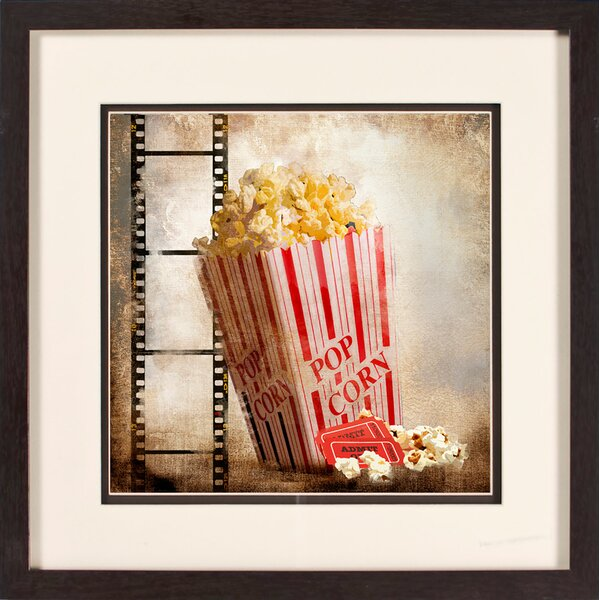 Popcorn Giclée Framed Graphic Art by PTM Images