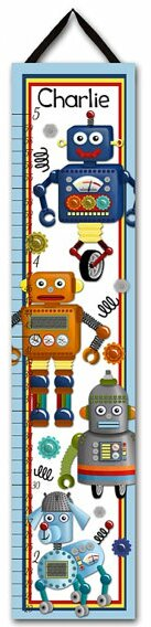 Robot Personalized Growth Chart by Toad and Lily