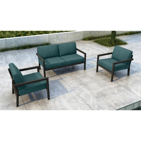 Iliana 3 Piece Sofa Seating Group With Sunbrella Cushions By 17 Stories by 17 Stories Coupon