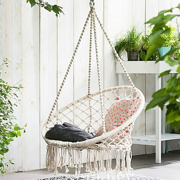Dutra Macrame Chair Hammock By Bungalow Rose