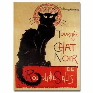 Tournee du Chat Noir by Theophile A. Steinlen Vintage Advertisement on Canvas by Trademark Fine Art