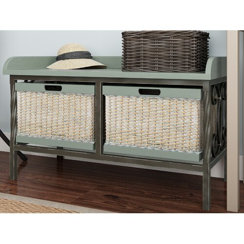 Gainseville Wood Storage Bench ClassicLiving
