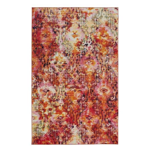 Locher Orange/Pink Area Rug by Latitude Run