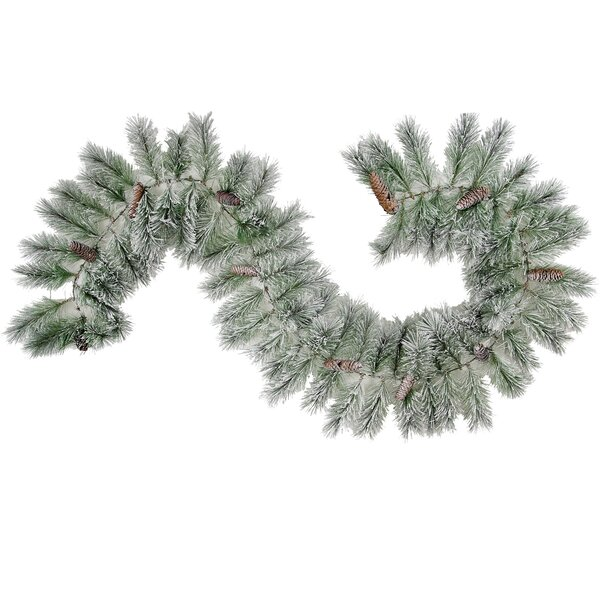 Christmas Pine Garland Natural Pine Cone with Frosted Snow Tip by Admired by Nature
