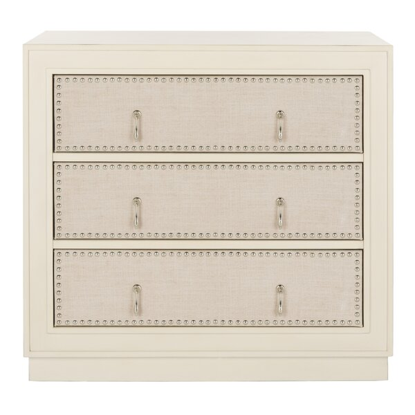 Castleberry 3 Drawer Accent Chest by Bungalow Rose Bungalow Rose