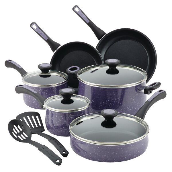 Riverbend Aluminum 12 Piece Nonstick Cookware Set by Paula Deen