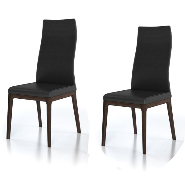 Ferrer Genuine Leather Upholstered Dining Chair (Set of 2) by Brayden Studio