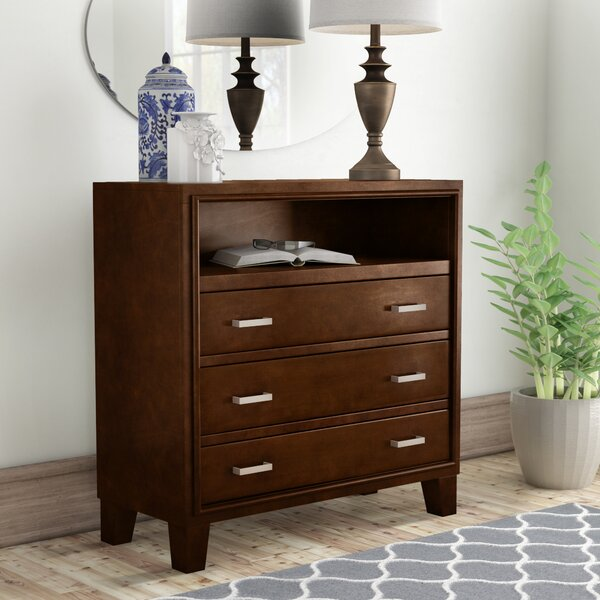 Carpino 3 Drawer Bachelors Chest by Latitude Run