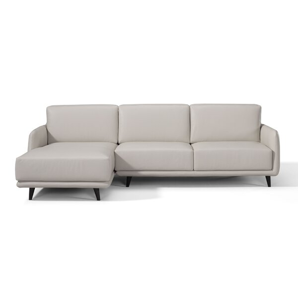 Laster Leather Sectional By Orren Ellis