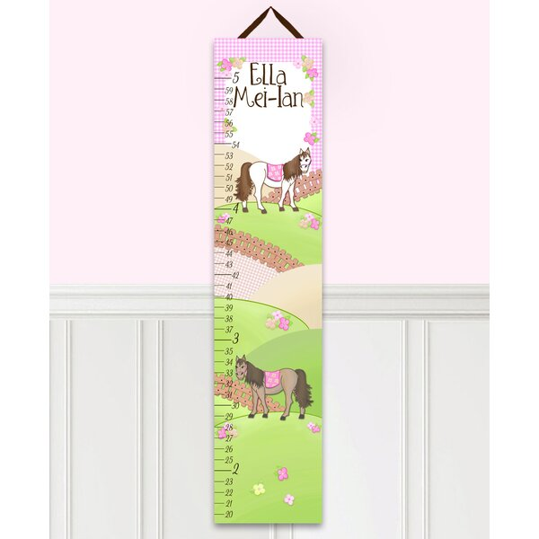 Horse Personalized Canvas Growth Chart by Toad and Lily