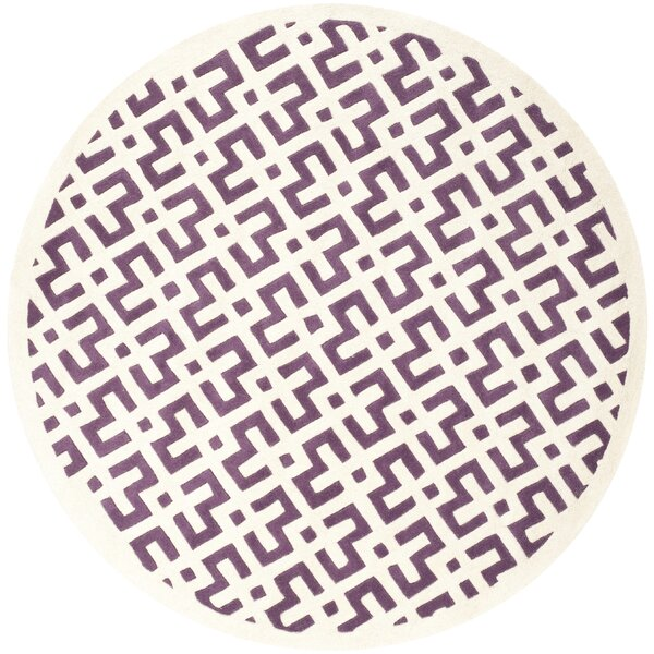 Wilkin Purple / Ivory Rug by Wrought Studio