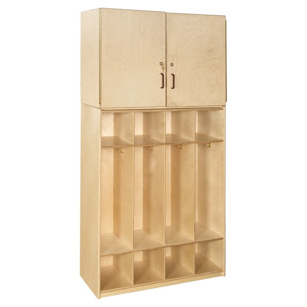 Contender 4 Tier 4 Wide Home Locker by Wood Designs