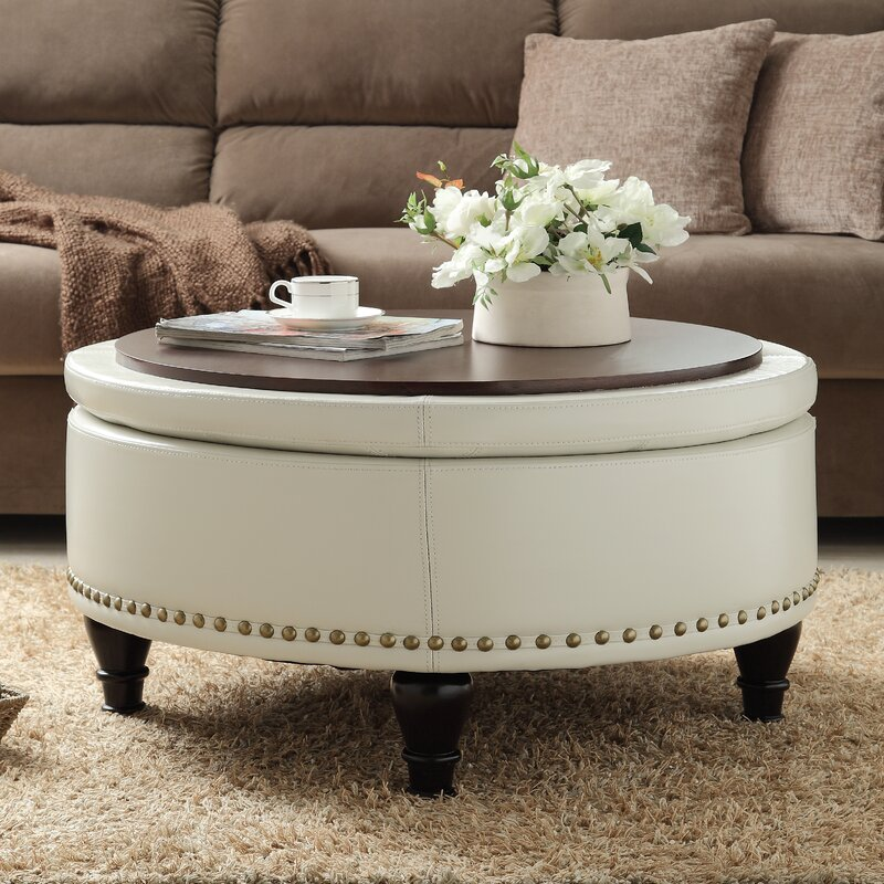 living room storage ottoman. Ellen Bonded Leather Storage Ottoman Darby Home Co  Reviews Wayfair