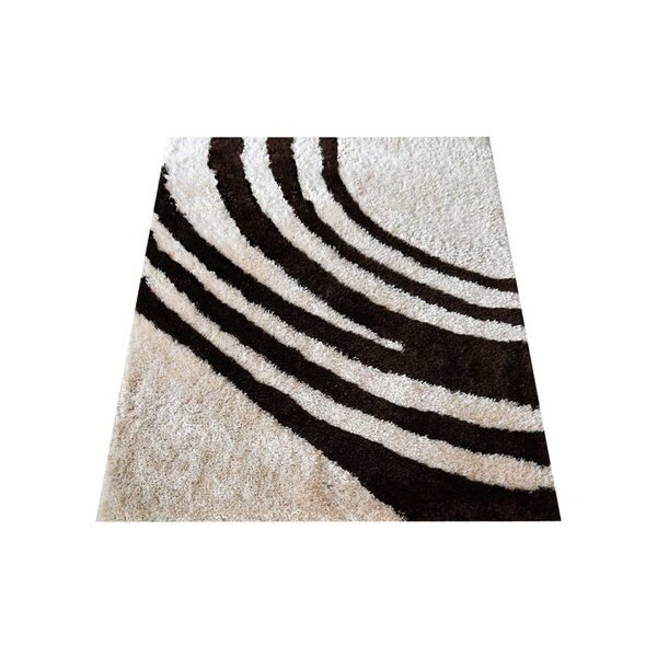 Ry Hand-Knotted Ivory/Black Area Rug by Latitude Run