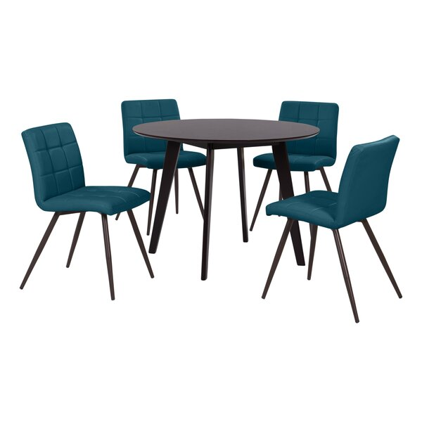 Elena 5 Piece Solid Wood Dining Set by Wrought Studio Wrought Studio