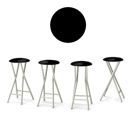 Martini 30'' Patio Bar Stool with Cushion (Set of 4) by Best of Times
