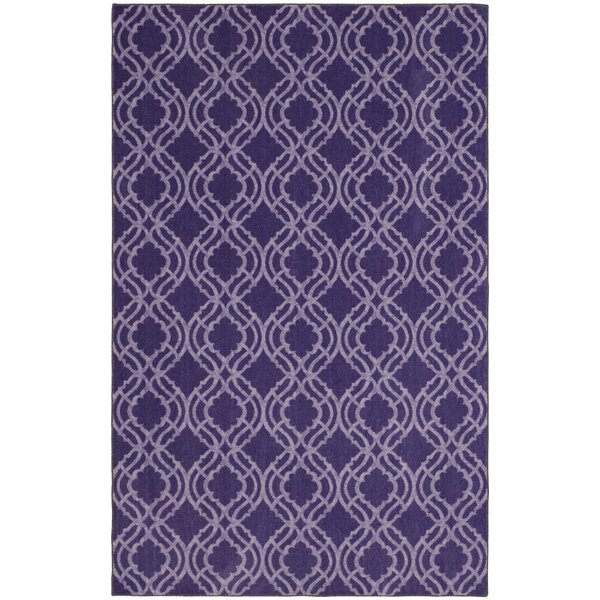 Tomaz Platte Fret Purple Area Rug by Longshore Tides