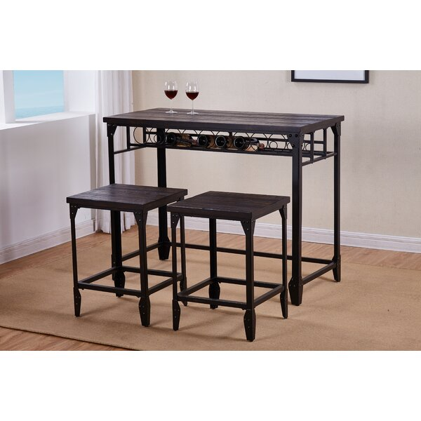Fullerton 3 Piece Counter Height Dining Table Set by Greyleigh Greyleigh