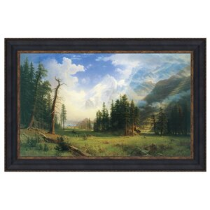 Mountain Landscape, 1895 Framed Painting Print on Canvas by Design Toscano