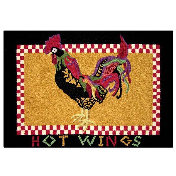Basie Hot Wings Wool Tan Area Rug by August Grove