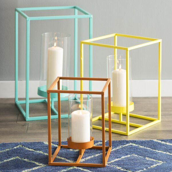 3 Piece Iron Candle Lantern Set by Corrigan Studio