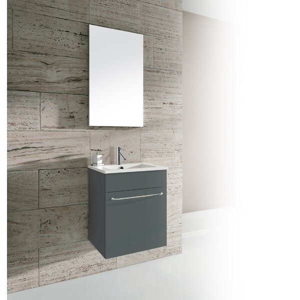 Qubo 16 Single Bathroom Vanity with Mirror by Dawn USA
