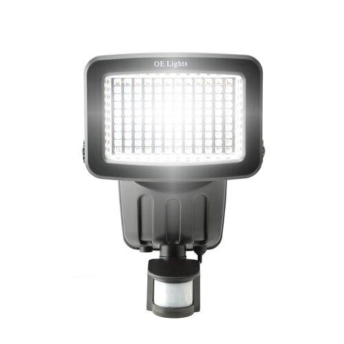 120 SMD LED Solar Security Light in Black OE Lights Finish: Black