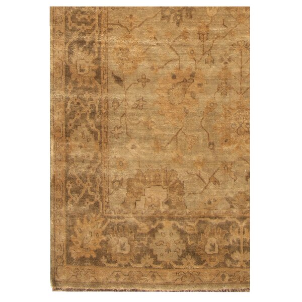 Oushak Hand-Knotted Wool Brown/Gray Area Rug by Exquisite Rugs