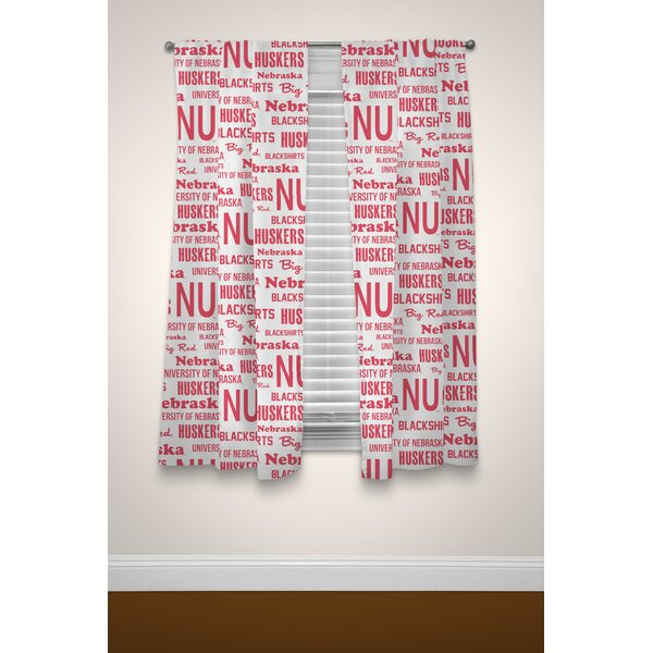 NCAA Curtain Panels (Set of 2) by Northwest Co.