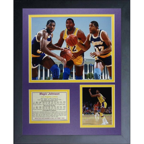 Magic Johnson Framed Memorabilia by Legends Never Die