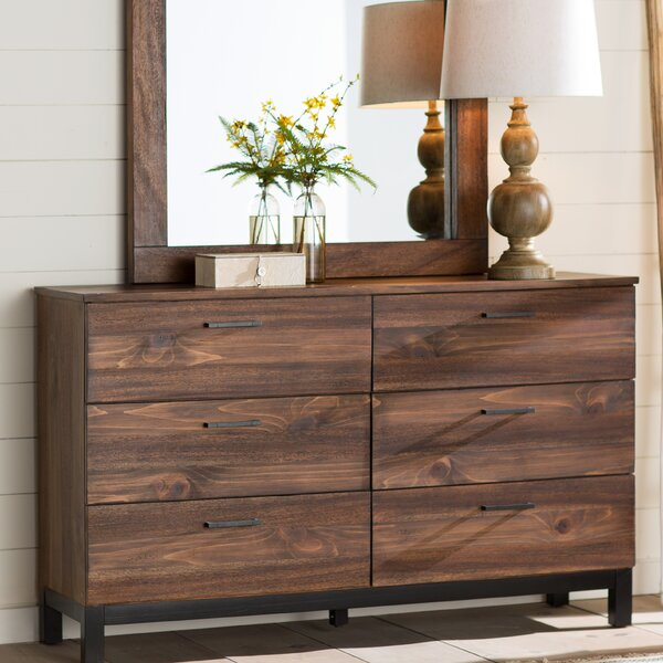 Jaiden 6 Drawer Double Dresser by Laurel Foundry Modern Farmhouse