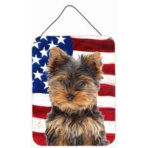 USA American Flag Print on Plaque by Caroline's Treasures