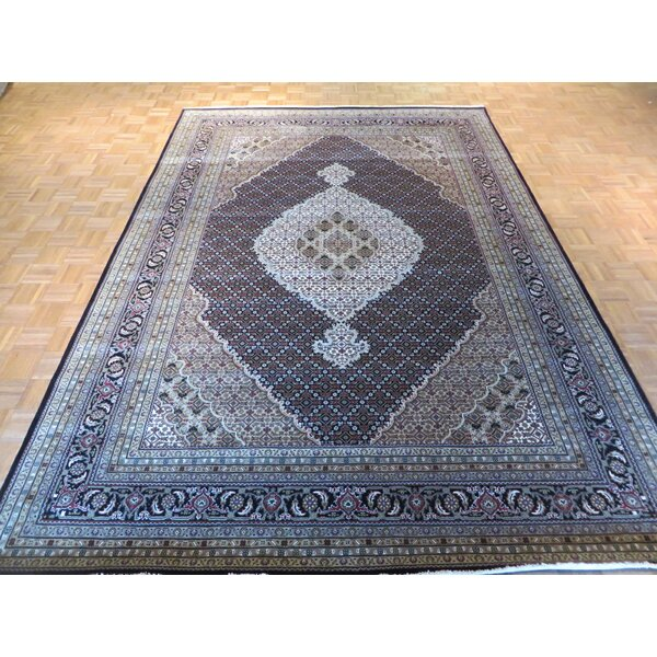One-of-a-Kind Rhyne Mahi Hand-Knotted Wool Black Area Rug by Astoria Grand