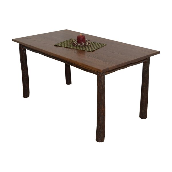 Desiree Hickory Solid Wood Dining Table by Loon Peak