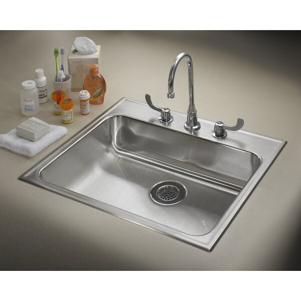 25 L x 22 W Drop-In Kitchen Sink by Just Manufacturing