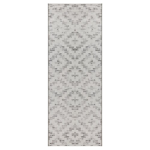 Creil Flatweave Light Grey/Black Indoor/Outdoor Rug Elle Dec