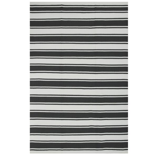 Zen Black Indoor/Outdoor Area Rug by Fab Habitat