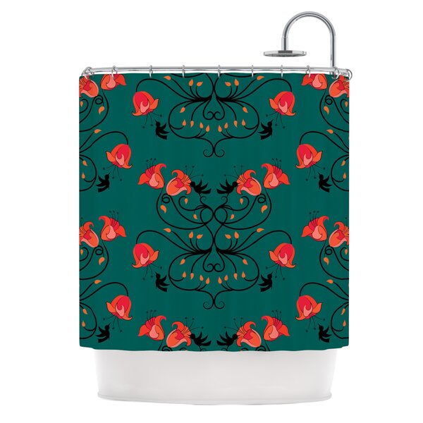 Hummingbird by Yenty Jap Shower Curtain by East Urban Home