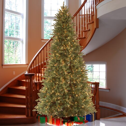 Tiffany Green Fir Artificial Christmas Tree with Clear Lights