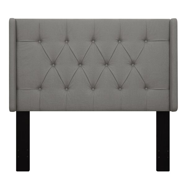 Davina Upholstered Wingback Headboard by Beachcrest Home
