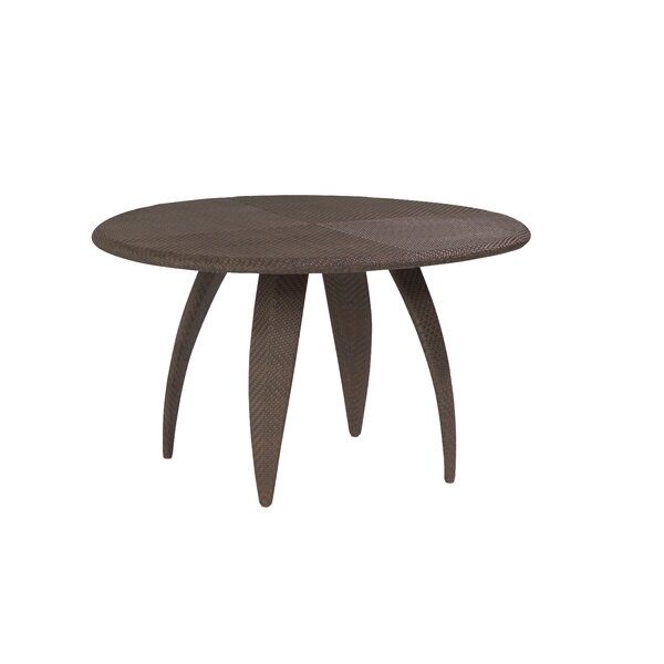 All-Weather Round Plastic Dining Table by Woodard