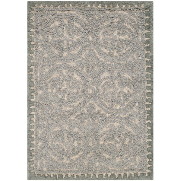 Cambridge Dusty Hand-Tufted Blue/Cement Area Rug by Darby Home Co