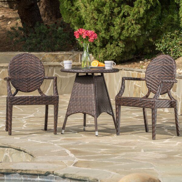 Zahir Outdoor Wicker Bistro Set by Ivy Bronx