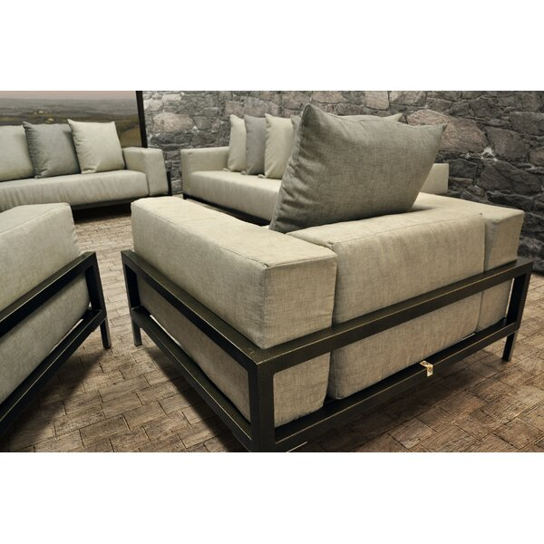Tilly 4 Piece Sunbrella Sofa Set with Cushions by Orren Ellis