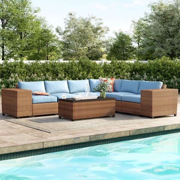 Waterbury 9 Piece Rattan Sectional Seating Group with Cushions by Sol 72 Outdoor