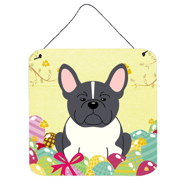 Easter Eggs French Bulldog Metal Wall Décor by The Holiday Aisle