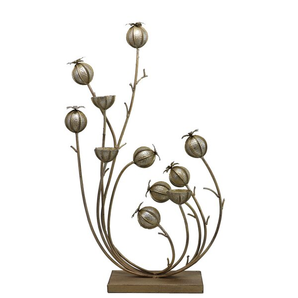 Lima Wild Poppy Vine Metal Candle Holder by Selectives